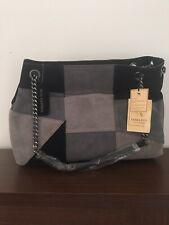 Emma Fox Leather Multicolor  Gray Black Bag