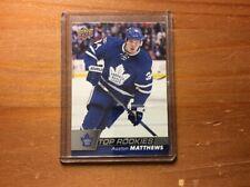 2017-18 MJ Holding Hockey Top Rookies R1 Auston Matthews Toronto Maple Leafs