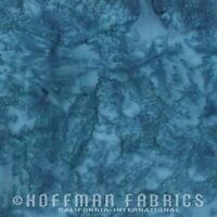 Hoffman 1895 Batik Watercolour Fabric 100% Cotton Lake #311