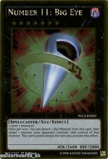 PGL3-EN063 Number 11: Big Eye Gold Rare 1st edition Mint YuGiOh Card