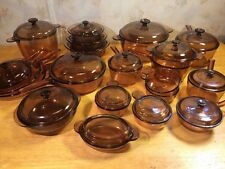 37 Piece AMBER VISIONS Corning Cookware 4.5/3.5 QUART DUTCH OVENS LARGE VARIETY