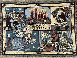 Goodwin Weavers Merry Christmas Tapestry Sofa Throw Blanket Susan Winget 70x48