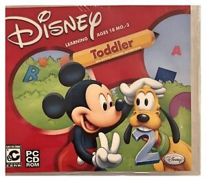 Disney Mickey Mouse Toddler Pc New Win10 8 7 XP Letters Numbers Shapes Much More
