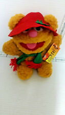 McDonald's Plush Christmas Baby Fozzie Bear With Hat, Scarf & Paper Tag Muppets