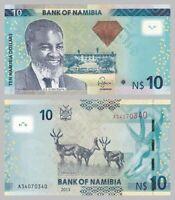 Namibia 10 Dollars 2013 p11b unz.