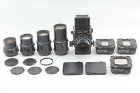 🔸N MINT 5Lens🔸 Mamiya RZ67 Pro II  50mm 90mm 180mm 250 360 3 Film Backs Japan