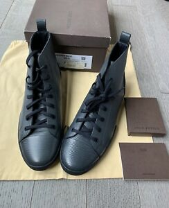 """NEW Mens $1000 LOUIS VUITTON """"Match-Up"""" Navy Epi Leather Sneaker Boots 7.5 / 8.5"""