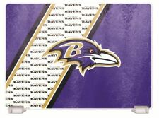 Baltimore Ravens Tempered Glass Cutting Board With Holders