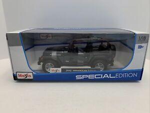 Maisto Jeep Wrangler Rubicon 1:18 Scale Dark Blue, Special Edition  - 31663