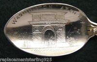 Sterling Souvenir Spoon Washington Arch, NY, 1900