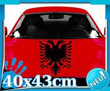 Albanischer Adler Heck Autoaufkleber | Albania  Albanien Kosovo Wappen 2O009_4