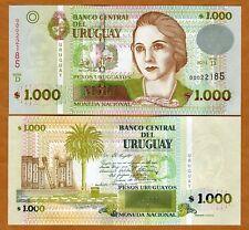 """Uruguay, 1000 Pesos Uruguayos, 2011 P-91-New, """"D"""" UNC"""