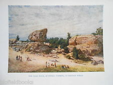 Kent 1907 Antiquarian Print W Biscombe Gardner of Toad Rock, Tunbridge Wells