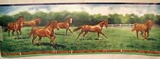 Brown Horses Running Wallpaper Wall Border 5 yds Imperial Inc. New