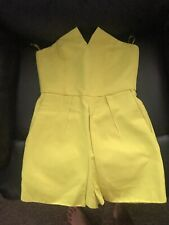 TopShop Yellow Lime Jumpsuit Size 8 RRP £48