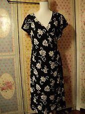 ralph lauren  black ivory dress  silk