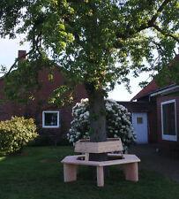 . Parkbank aus Lärchenholz.Gartenbank 6 eckig.Baumbank 360°...,Krongartmöbel.