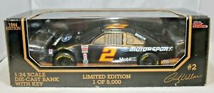 Racing Champions 1:24 1994 Diecast Car BANK #2 Rusty Wallace Ford Motorsports