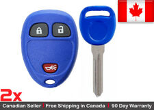 2 Blue Replacement Keyless Entry Remote Key Fob For Cadillac Chevrolet GMC Buick