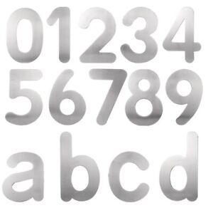 Hausnummer Buchstaben  Edelstahl V2A Ziffer Zahlen 1 2 3 4 5 6 7 8 9 0 a b c d