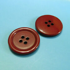 "15 Large Big Coat Jacket Topcoat Craft Sewing Buttons 25mm 1"" 40L Burgundy L292"
