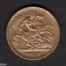 Australia.  1908 Sydney - Half Sovereign..  Part Lustre..  gVF