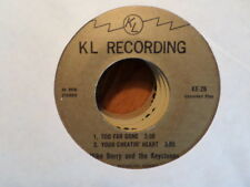 KL RECORDING 45 EP / MIKE BERRY KEYSTONES/TOO FAR GONE/YOUR CHEATIN HEART/ +2