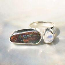 Ringe mit Edelsteinen aus Sterlingsilber echten 59 (18,8 mm Ø) Mondstein