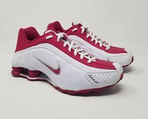 Youth/Womens Nike Shox R4 GS 312828-100 White/Pink Fuchsia /Grey Size 6.5Y/7.5 W