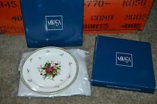 Set of 2 Mikasa Holiday Delight Petite Bone China Christmas Dessert Plate NEW