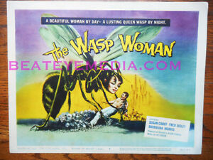 WASP WOMAN-MOVIE POSTER-TC-HORROR-SCI FI,MONSTER-TITLE CARD,FILM-MONSTERS-CULT