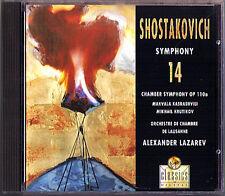 Alexander LAZAREV: SHOSTAKOVICH Symphony 14 Chamber Sym VIRGIN CD Kasrashvili