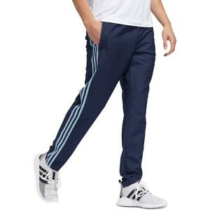 Adidas Mens Navy Fitness Workout Running Athletic Pants L BHFO 1169