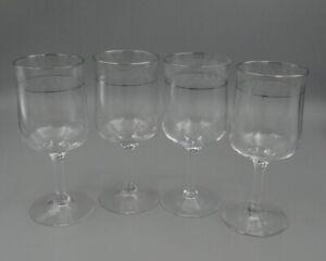 Lenox Crystal MOONSPUN Platinum Wines - Set of Four