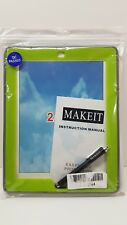 iPad 4 Case, 3, 2, MAKEIT Hybrid Three Layer Armor with stylus pen