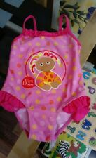 12 - 18 Months Baby Girls Swimsuit Costume Upsy Daisy In the Night Garden Pink