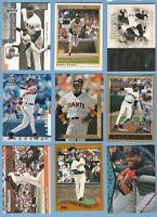 Barry Bonds LOT x 9 Pirates Giants O-Pee-Chee Topps Pinnacle Donruss (818)