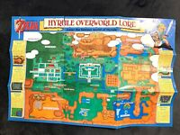 SNES Legend of Zelda: A Link to the Past Super Nintendo Map Poster Authentic