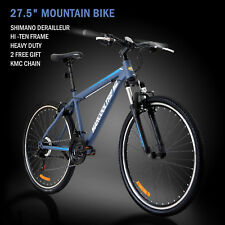 "27.5"" Men's Mountain Bike Shimano Hybrid 21 Speed Brake Suspension Bicycle Sport"