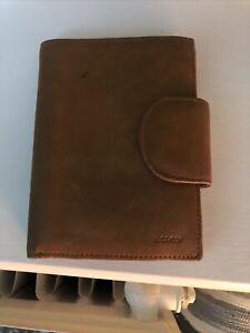 Tan Leather Wallet L'Credi Brown Large