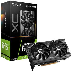 EVGA GeForce RTX 3060 XC GAMING, 12G-P5-3657-KR, 12GB GDDR6, Dual-Fan, Metal Bac
