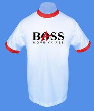 Männer Herren T-Shirt zweifarbig Bass Boss Musik bedruckt move2be S M L XL XXL