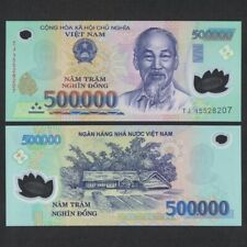 (6) x 500,000 Vnd Banknotes = 3 Million Vietnamese Dong Currency, Fast Delivery