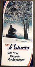 1977 POLARIS SNOWMOBILE LEAFLET SALES BROCHURE NICE TX, TX-L  (993)