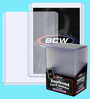 10 BCW 197pt 5MM THICK TOPLOADERS NEW Trading Card Holder Sports Jersey Topload