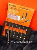 Franklin Tools 7 Pce LONG Torx Star Socket Bit Set 3/8 With Foam Tray T20 - T55