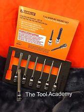 Franklin Tools 7 PCE Largo Torx Estrella Socket Bit Conjunto de 3/8 con bandeja de espuma T20-T55