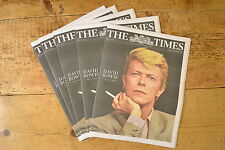 DAVID BOWIE THE TIMES NEWSPAPER ENGLAND OBITUARY ZIGGY TUES 12TH JANUARY 2016