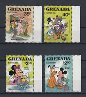 TIMBRE STAMP 4  ILE GRENADE  Y&T#960-63 DISNEY MICKEY  NEUF**/MNH-MINT 1981 ~A94