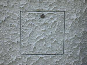 400x400mm,Revisionsklappe f.Fassade,Wartung,Wärmedämmung,Verputzen,Außenbereich